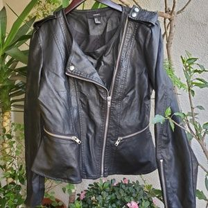 Black faux leather look jacket from Forever 21